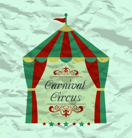 cirque: Illustrazione poster d'epoca circo per la vostra pubblicit� - vettore