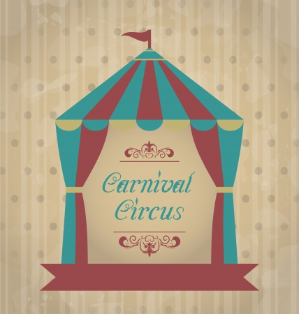 Illustration vintage carnival poster for your advertising - vector