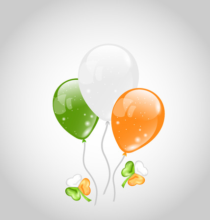 Illustration Irish colorful balloons with clovers for St. Patricks Day - vector Vector