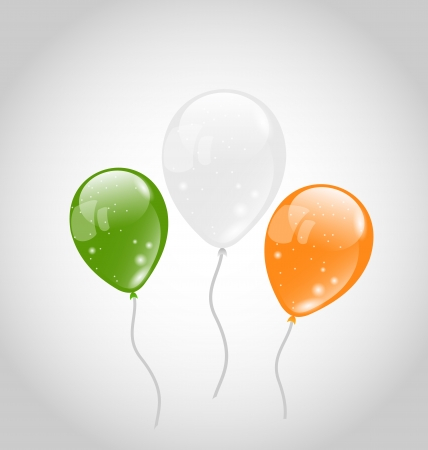 Illustration Irish colorful balloons for St. Patricks Day - vector Vector