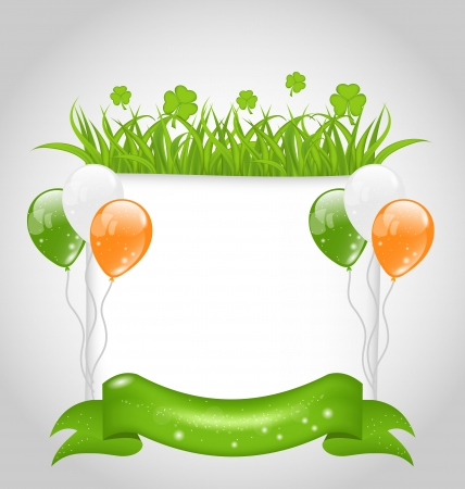 Illustration cute nature background for St. Patrick's Day - vector Vector
