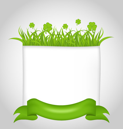 17th march: Illustration cute nature card for St. Patricks Day - vector