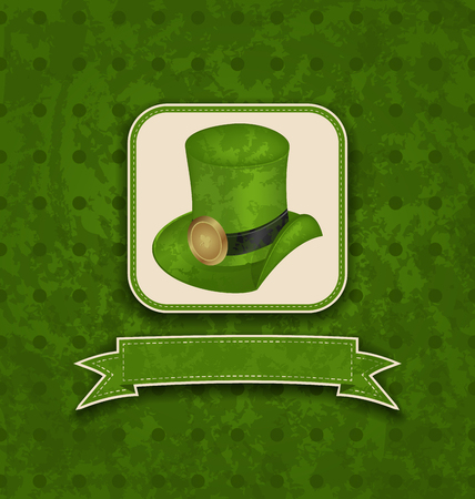 Illustration holiday background with hat and ribbon for St. Patricks Day - vector Vector