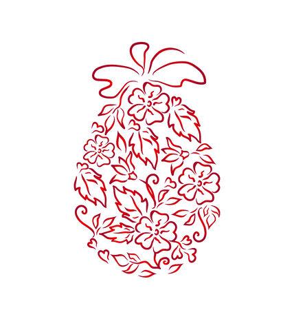 eastertide: Illustration Easter ornamental egg in floral style - vector Illustration