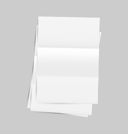 Illustration set empty paper sheet with shadows   Vector