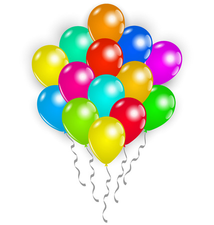 colorful balloons on white background   Vector