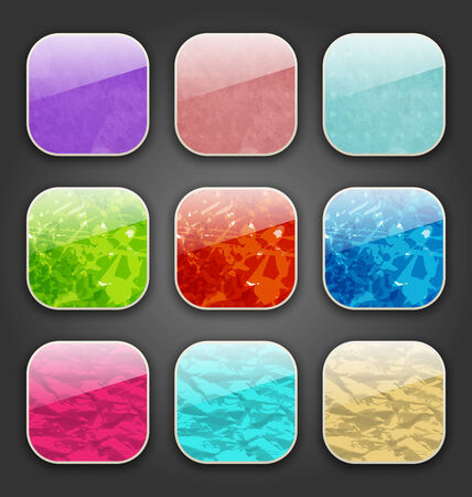 Illustration backgrounds with grunge texture for the app icons - vector Vector