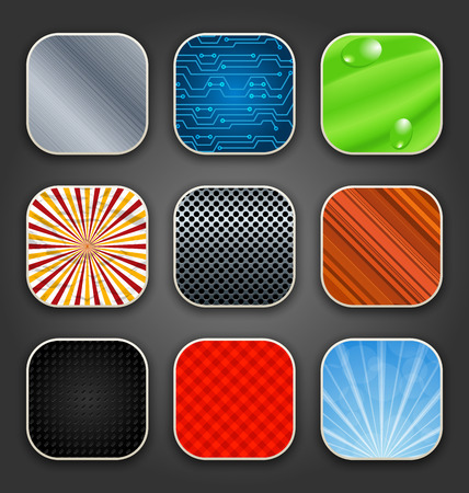 Illustration backgrounds with texture for the app icons - vector Vector