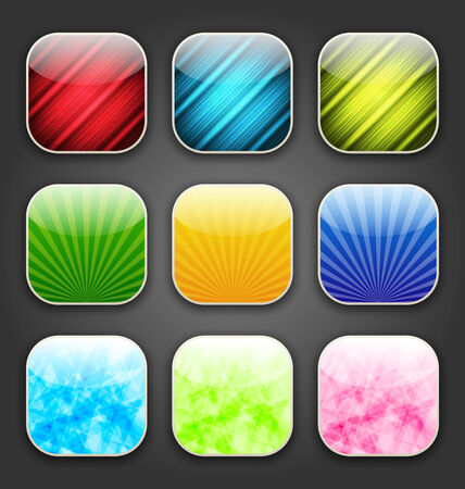 Illustration abstract backgrounds for the app icons - vector Vector