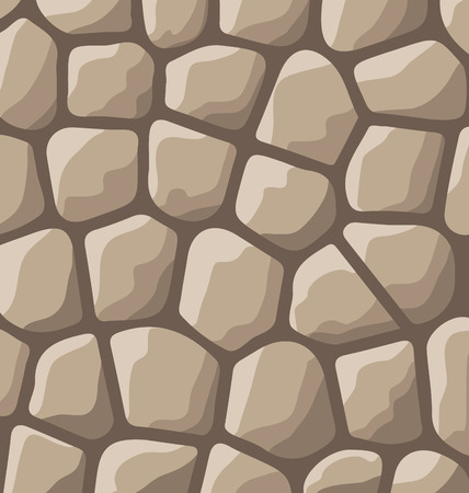 flagstone: Illustration texture of stones in brown colors - vector Illustration