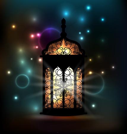 Illustration Arabic lantern with ornamental Pattern for Ramadan Kareem - vector Vector