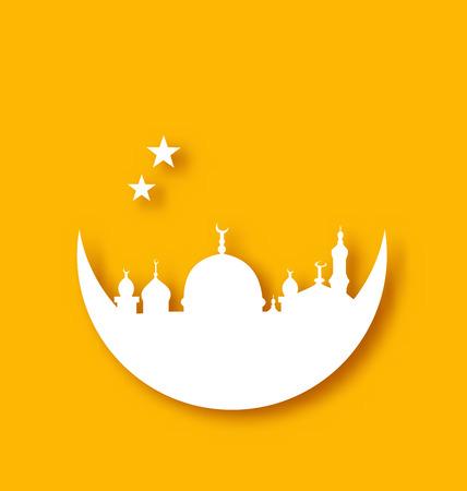 Illustration Islamic holiday background, Ramadan Kareem - vector