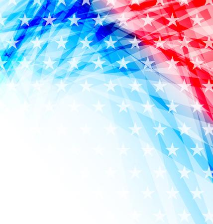 Illustratie abstracte Amerikaanse Vlag voor Independence Day - vector