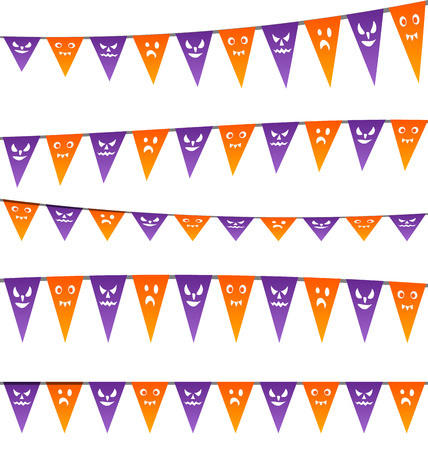 party streamers: Illustration Halloween hanging streamers flags for your party
