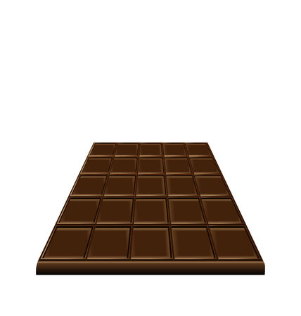 Illustration chocolate bar isolated on white background, sweet dessert - vector Vector