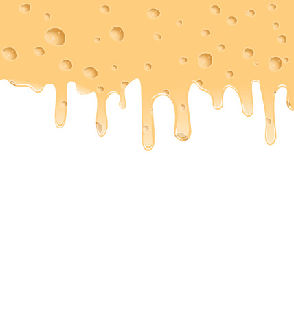 parmesan cheese: Illustration melted cheese texture with holes, space for your text - vector