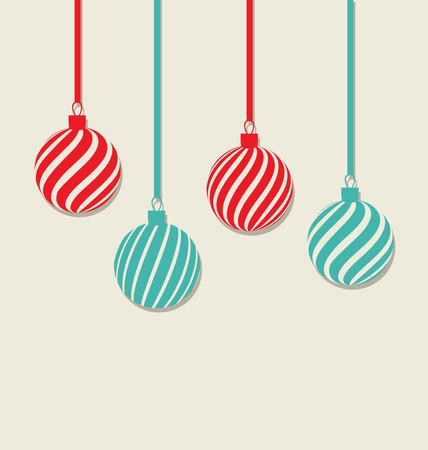 Illustration Christmas hanging balls Vector
