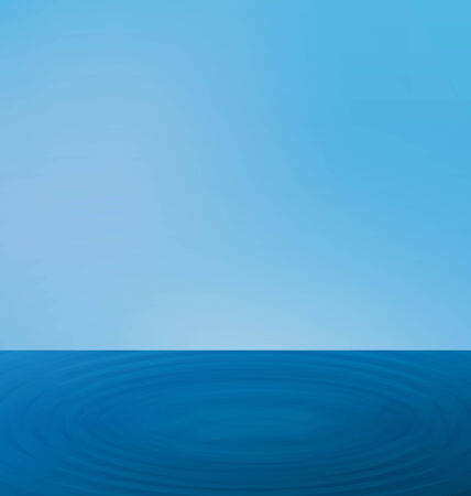 sea landscape: Illustration wallpapers ripple sea landscape with the horizon and blue sky - vector Illustration