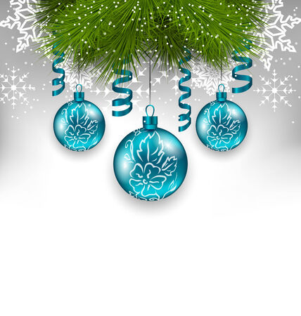 adornment: Illustration Christmas background with traditional adornment - vector Illustration