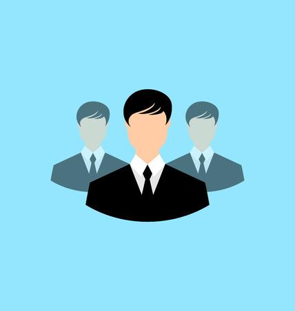 employe: Avatar set front portrait office employee team for web design application  - vector