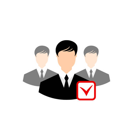Avatar set front portrait office employee team for web design application  - vector Vector