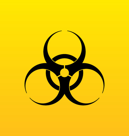 riesgo quimico: Muestra de peligro Ilustración bio, peligro advertencia símbolo - vector