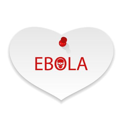 epidemic: Illustration warning epidemic Ebola virus, paper memo - vector