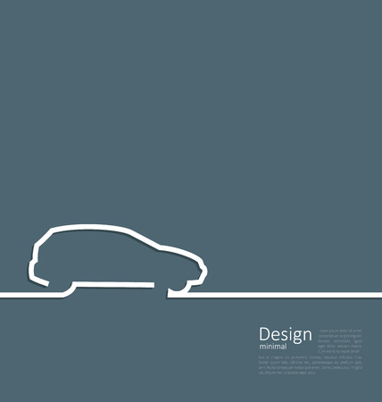 cleaness: Laconic design of velocity vehicle car cleaness line flat template corparate style with space for text - vector