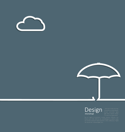 Illustration umbrella protection it weather the concept of safety and security, web page design, template corporate style logo - vector