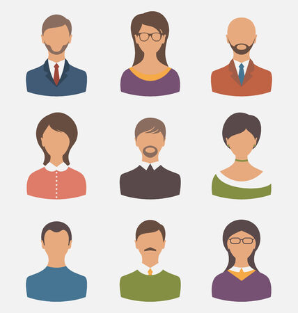employe: Illustration different human icons isolated on white background - vector