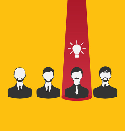 Illustration emergence new creative idea, icon of business people - vector Vector