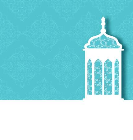 ramzan: Illustration Arabic ornamental lamp for Ramadan Kareem - vector