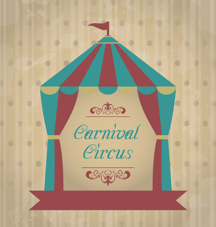 Illustration vintage carnival poster for your advertising - vector illustration