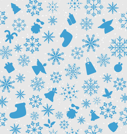 Illustration Christmas wallpaper with traditional elements  illustration