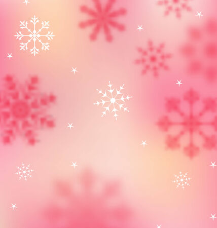 Illustration New Year pink wallpaper with snowflakes illustration