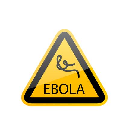 Illustration sign epidemic Ebola, danger symbol warning - vector illustration