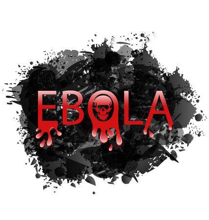 epidemic: Illustration warning epidemic Ebola virus, grunge background - vector