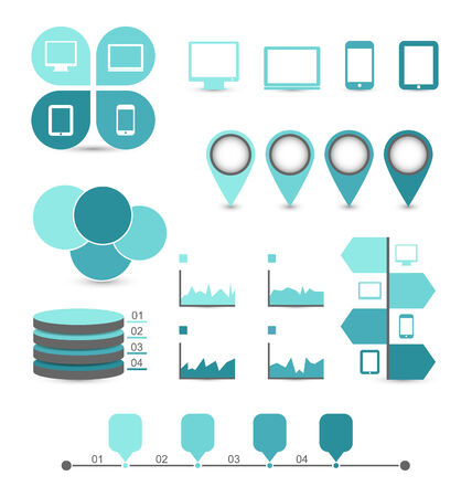 Illustration infographic design elements ideal to display for your information - vector Stock Photo