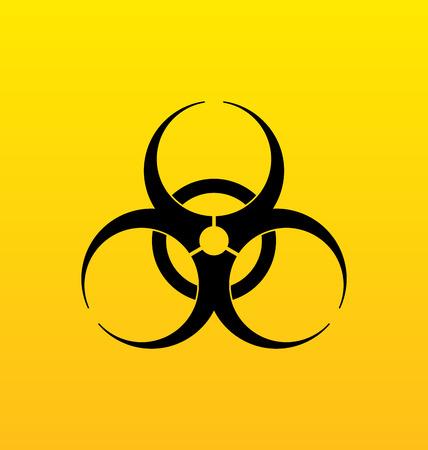 chemical hazard: Illustration bio hazard sign, danger symbol warning - vector Stock Photo