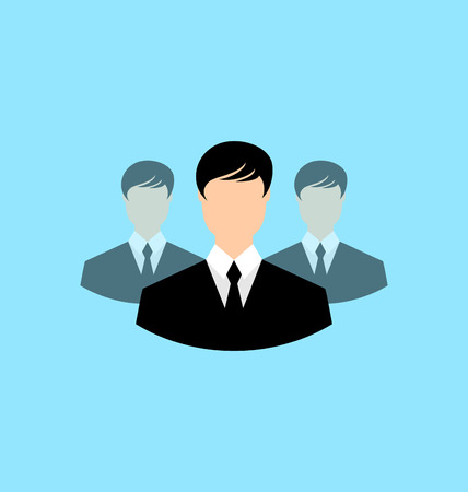 male symbol: Avatar set front portrait office employee team for web design application  - vector