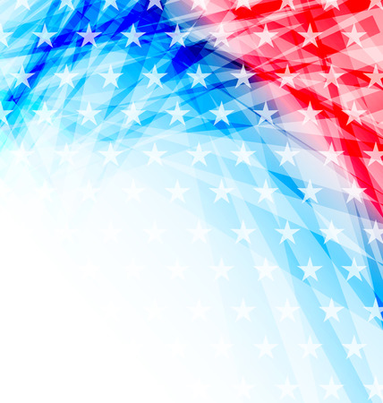 banderas america: Ilustración abstracta de la bandera americana para el Día de la Independencia - vector Foto de archivo