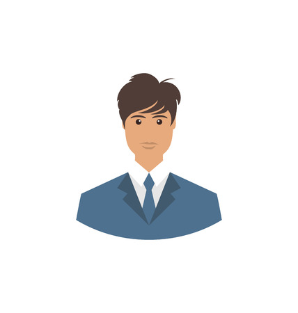 employe: Front face portrait avatar office employee in business costume