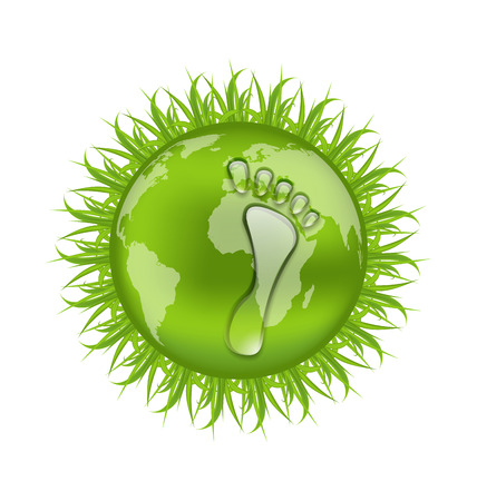 Illustration go green concept, save our planet illustration