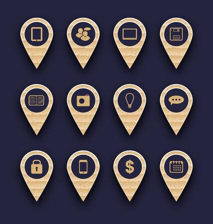 Illustration set business pictogram icons for design your website illustration