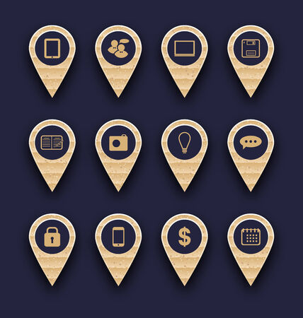 Illustration set business pictogram icons for design your website illustration