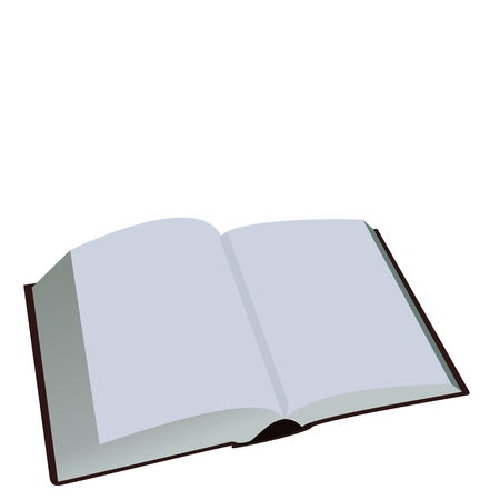bookish: Illustration of opened book is isolated on white background