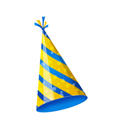 dressing up party: Illustration birthday hat isolated on white background - vector