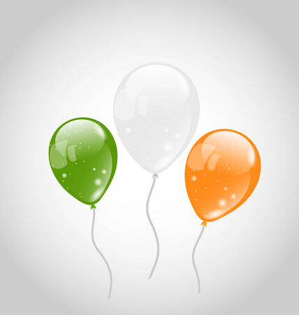 Illustration Irish colorful balloons for St. Patricks Day - vector illustration