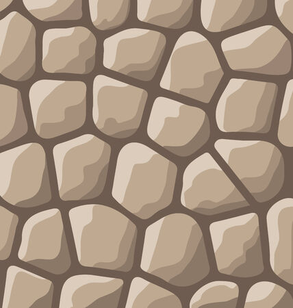 flagstone: Illustration texture of stones in brown colors - vector Stock Photo