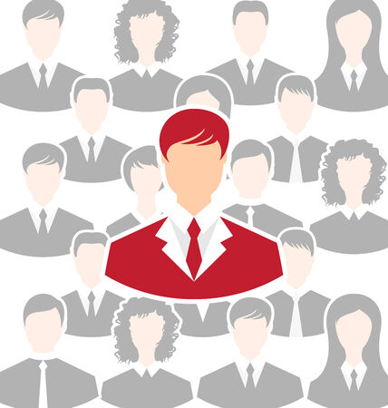 Illustration concept of leadership, community business people - vector illustration